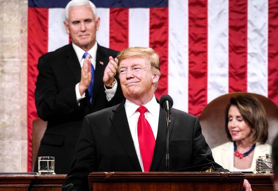 5일 국정연설을 하고 있는 도널드 트럼프 미국 대통령. [AFP=연합뉴스]