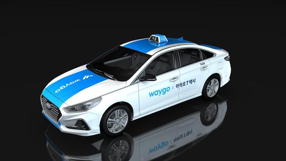 타고솔루션즈가 이르면 이달부터 도입 예정인 승차거부 없는 택시 '웨이고 블루'의 외부 모습. 최종 디자인은 서울시 승인을 받은 후 확정된다. [사진 서울시]