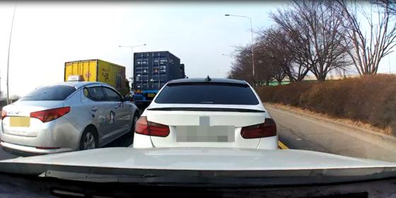 음주운전 방조범이 탄 교통사고 가해차량 블랙박스에 담긴 사고 장면. [사진 일산동부경찰서]
