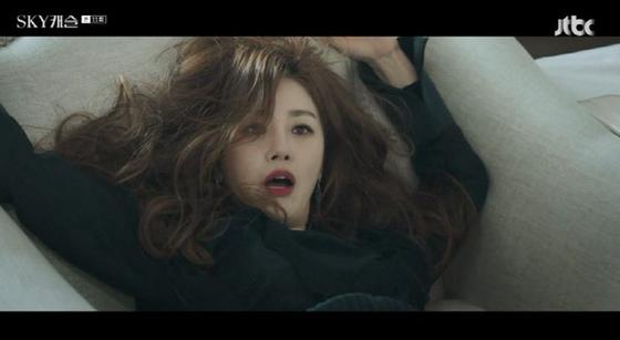 JTBC드라마 'SKY 캐슬'에서 진진희 역을 연기 중인 배우 오나라. [사진 JTBC 방송 캡처]