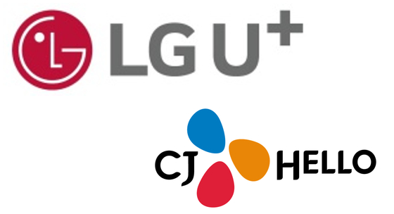 LG유플러스와 CJ헬로 로고.