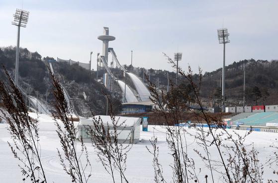 지난 2018 평창 동계올림픽이 열렸던 강원도 평창군 알펜시아 스키점프대. 김상선 기자