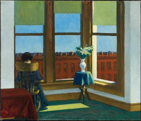 브루클린의 방(room in brooklyn, 1932), 에드워드 호퍼(Edward hopper), 74x86cm, 캔버스에 유채. [출처 보스턴 미술관]
