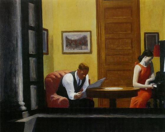 뉴욕의 방(room in newyork, 1930년대), 에드워드 호퍼(Edward hopper) [출처 위키아트]