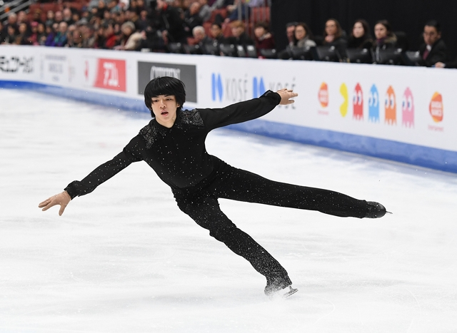 차준환은 10일 미국 애너하임에서 열린 2019 ISU 사대륙 선수권대회 남자 싱글 프리스케이팅에서 대회 6위를 기록했다. 연합뉴스 제공