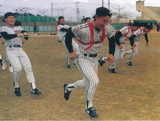 1993년 LG트윈스의 전지훈련. 베이스볼긱 용 사진물