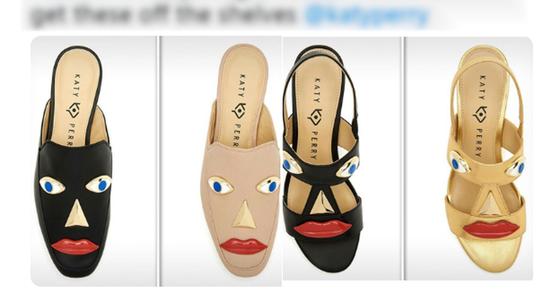 인종차별 논란에 휩싸인 케이티페리 신발 [@TraceyNew 트위터 캡처]