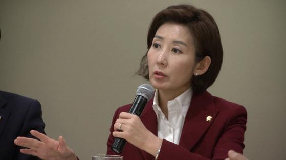 나경원 자유한국당 원내대표.[이광조 JTBC 카메라기자]
