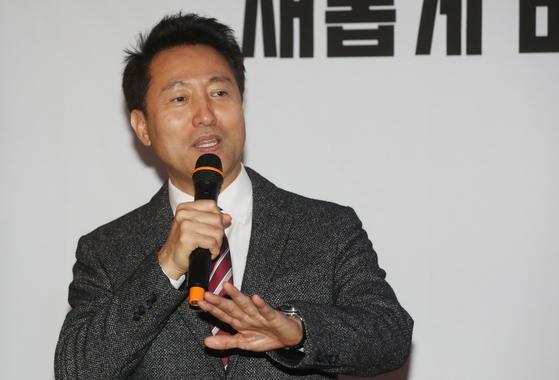 자유한국당 2.27 전당대회 당대표에 출마하는 오세훈 전 서울시장. [뉴스1]