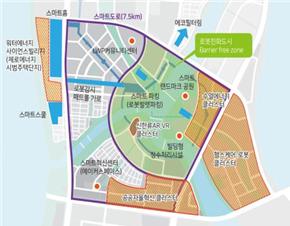 세종 5-1 지구 스마트도시 계획도.