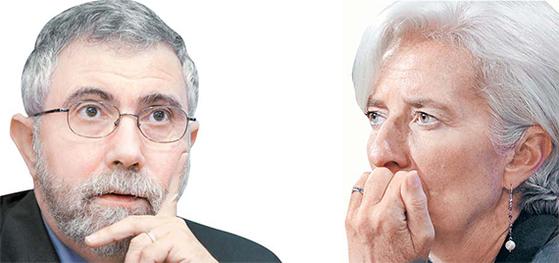 크루그먼(左), 라가르드(右)