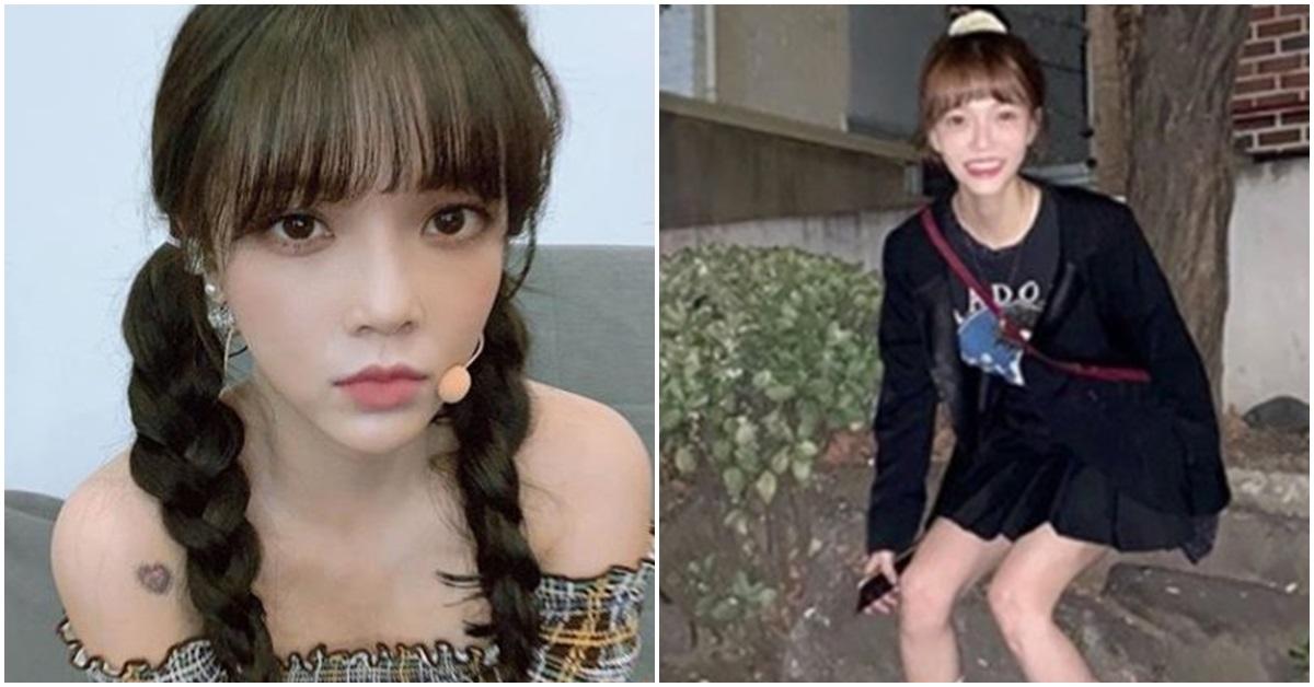 아이돌그룹 AOA 지민이 지난해 10월 공개한 사진(왼쪽)과 지난 12일 공개한 사진. [사진 AOA 지민 인스타그램]