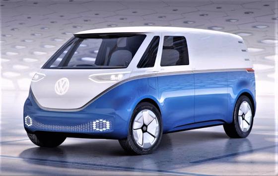 폴크스바겐의 전기차 I.D. 버즈 카고 콘셉트카. 세계 최대 완성차 업체 폴크스바겐은 2022년까지 55종의 전기차를 출시할 예정이다.[사진 폴크스바겐]