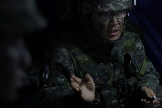 31일 강원도 인제 KCTC 훈련장. 23연대장 박문기 대령. [사진 박용한]