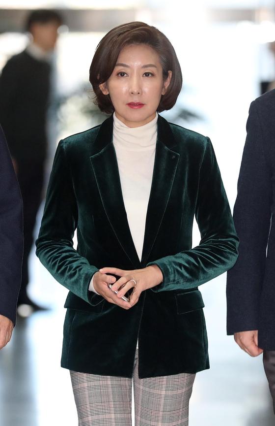 자유한국당 나경원 원내대표. [연합뉴스]