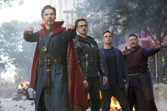 '어벤져스:인피니티 워'. 4월에 개봉해 지난해 극장가 흥행 2위에 올랐다. [사진 월트디즈니컴퍼니 코리아]