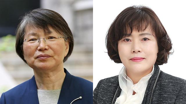 이공주 교수(왼쪽), 김현숙 교수. [사진 청와대]