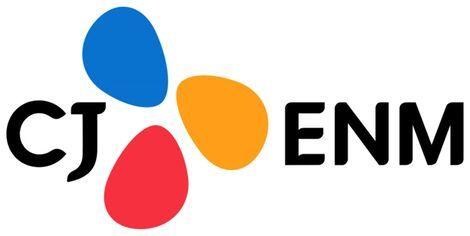 CJ ENM의 로고.