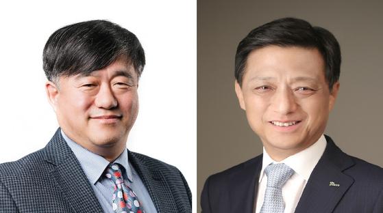 박희재 포스코 사외이사 후보(왼쪽), 김학동 포스코 생산본부장. [사진 포스코]