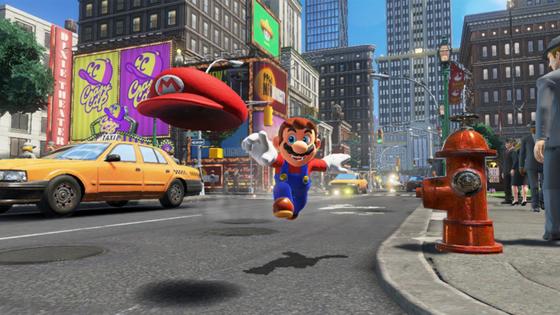 닌텐도스위치에서 가장 인기가 많은 게임 중 하나인 슈퍼 마리오 오디세이의 한 장면. [사진 닌텐도 코리아]