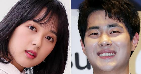 배우 김보라(왼쪽)와 조병규가 21일 열애설을 인정했다. [일간스포츠]