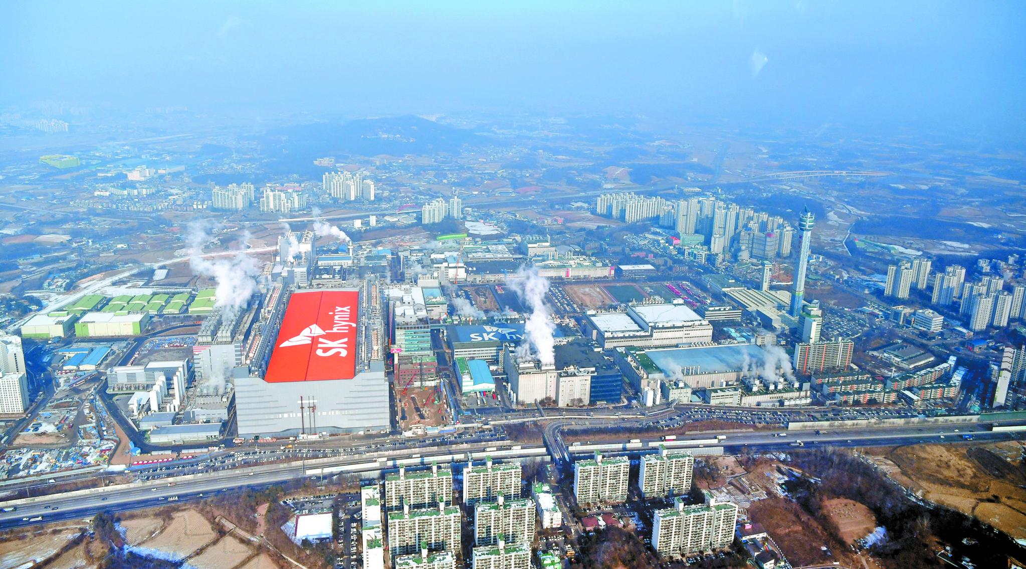 SK하이닉스 본사가 있는 경기도 이천공장의 모습. [중앙포토]