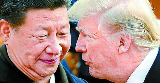 시진핑 국가 주석과 도널드 트럼프 미국 대통령. [AP=연합뉴스]