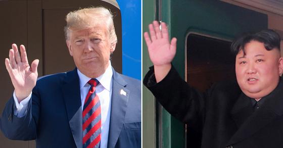 도널드 트럼프 미국 대통령(왼쪽)과 김정은 북한 국무위원장. [연합뉴스]