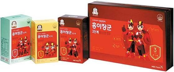 정관장 홍삼은 100% 계약재배를 통해 품질을 관리한다. 어린이용 홍삼 제품인 홍이장군 [사진 KGC인삼공사]