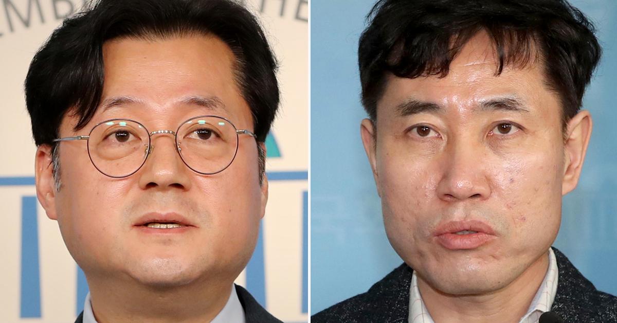 홍익표 더불어민주당 수석대변인(왼쪽)과 하태경 바른미래당 최고위원. [연합뉴스, 뉴스1]