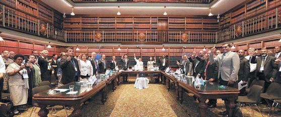 지난 19일 호주 시드니 뉴사이스 웨일스 주의회당에서 '2019 시드니 태평양 평화 지도자 회담' 행사가 열렸다. [사진 HWPL]