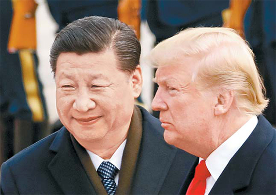 도널드 트럼프 미국 대통령(오른쪽)과 시진핑 중국 국가주석. [AP=연합뉴스]