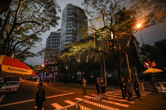 2차 북미정상회담 결렬 이후 김정은 북한 국무위원장의 숙소인 베트남 하노이 멜리아 호텔에 적막이 흐르고 있다. [뉴스1]