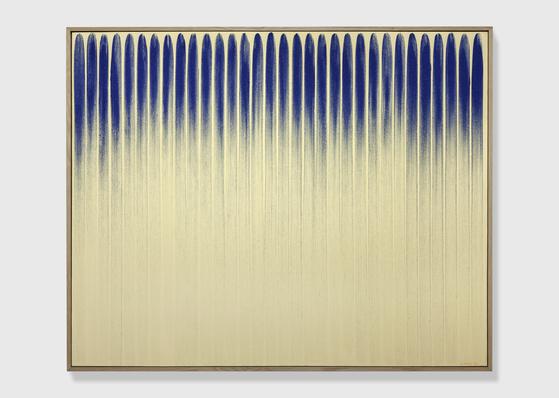 이우환(83) 작가의 1980년작 'From line (800152. (129.5*162.2cm.). [사진 국제갤러리]