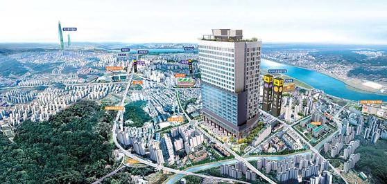 3기 신도시 조성, 지하철 3·5호선 신설 등 대형 호재를 품고 있는 덕풍역 ICT 하남 조감도.