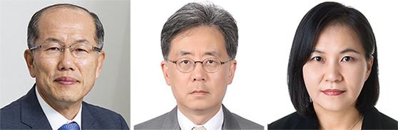 김유근, 김현종, 유명희(왼쪽부터).