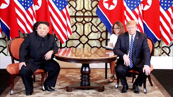 김정은 북한 국무위원장과 도널드 트럼프 미 대통령. [EPA]