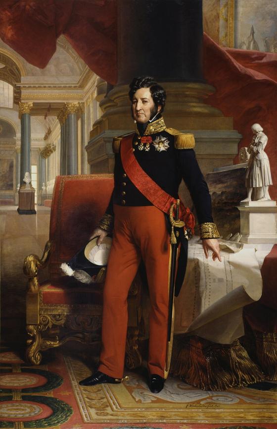 루이 필리프(Louis Philippe)왕. 시민왕으로 불렸던 그는 1830년 7월의 시민 혁명으로 왕위에 올랐다. 그의 재위 시절은 로스차일드 파리가족의 전성기 그리고 쇼팽의 파리시절과 거의 일치한다. Franz Xaver Winterhalter 그림. 1841. 베르사이유 궁전 소장. [사진 Wikimedia Commons(Public Domain)]