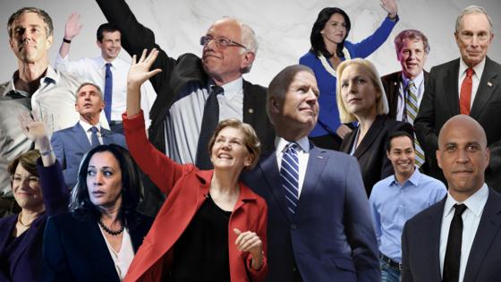 2020년 미 대선에 뛰어들 것으로 전망되는 후보들. [타임지 캡처]