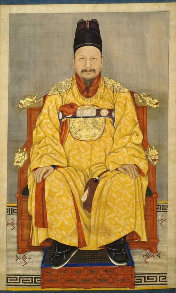 서울 국립중앙박물관에 있는 고종황제 어진. 20세기 초. 채용신이 그린 것으로 알려졌다. [사진 국립중앙박물관]