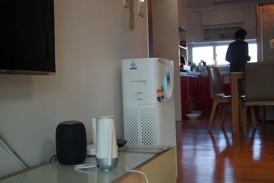 음식 조리와 환기, 공기청정기 가동에 따라 실내 공기 오염도가 큰 차이를 나타냈다. [강찬수 기자]