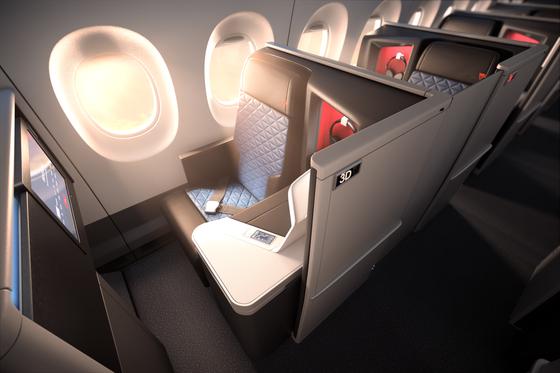 델타항공은 오는 8월부터 인천~시애틀 노선에 도입할 최신 기종인 A330-900네오 기종을 도입한다. 원 스위트 좌석은 미닫이문이 있어 안락한 개인 공간을 보장한다. [사진 델타항공]