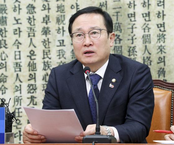 홍영표 더불어민주당 원내대표. 임현동 기자