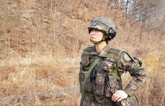 여군 최초의 전방사단 보병대대장인 권성이 중령. [사진 육군]