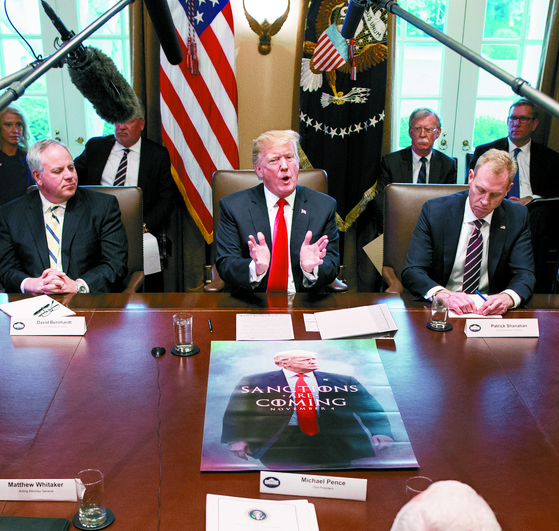 지난달 2일 백악관에서 각료회의를 하고 있는 도널드 트럼프 미국 대통령 [EPA=연합뉴스]