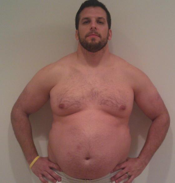 그는 비만인을 이해하려고 122㎏까지 일부러 체중을 늘렸다가, 다시 88㎏(아래)으로 감량했다. [사진 매닝]