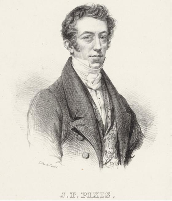 요한 P 픽시스(Johann Peter Pixis). (장-프랑수아 베르나르(Jean-François Bernard) 그림. 석판화. 프랑스 국립 중앙 도서관 소장). [그림 프랑스 국립 중앙 도서관]