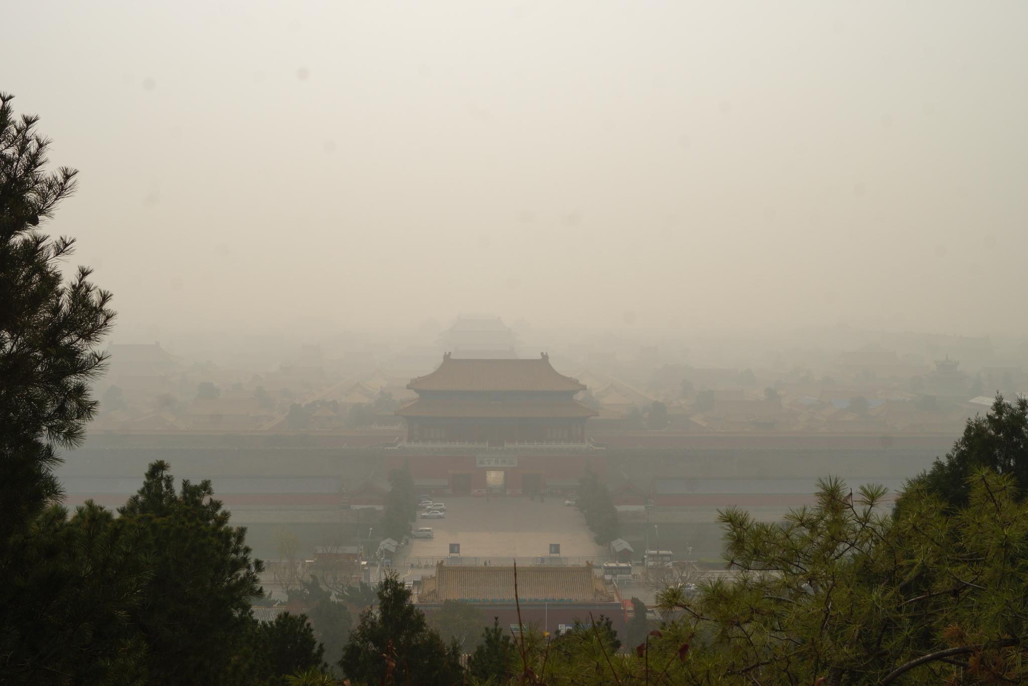 지난해 11월 26일 중국 베이징은 짙은 미세먼지로 뒤덮였다. 베이징=강찬수 기자