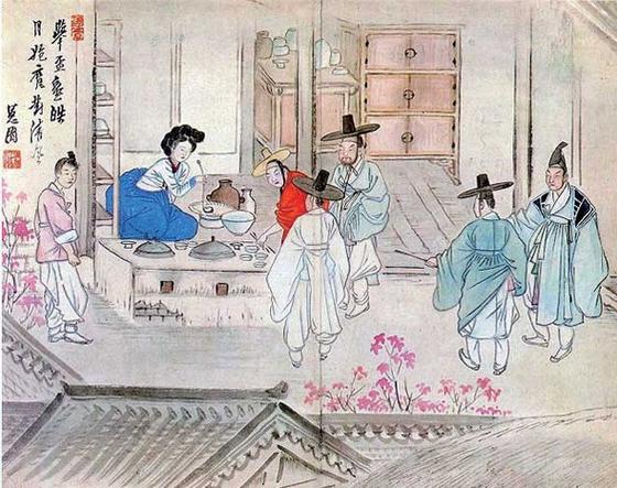 신윤복의 '주사거배(酒肆擧盃)' [중앙포토]