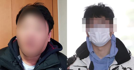 버닝썬 뇌물전달책 의혹을 받는 강 전 경찰관(왼쪽)의 부하직원 이모씨. 조강수 기자 [뉴스1]